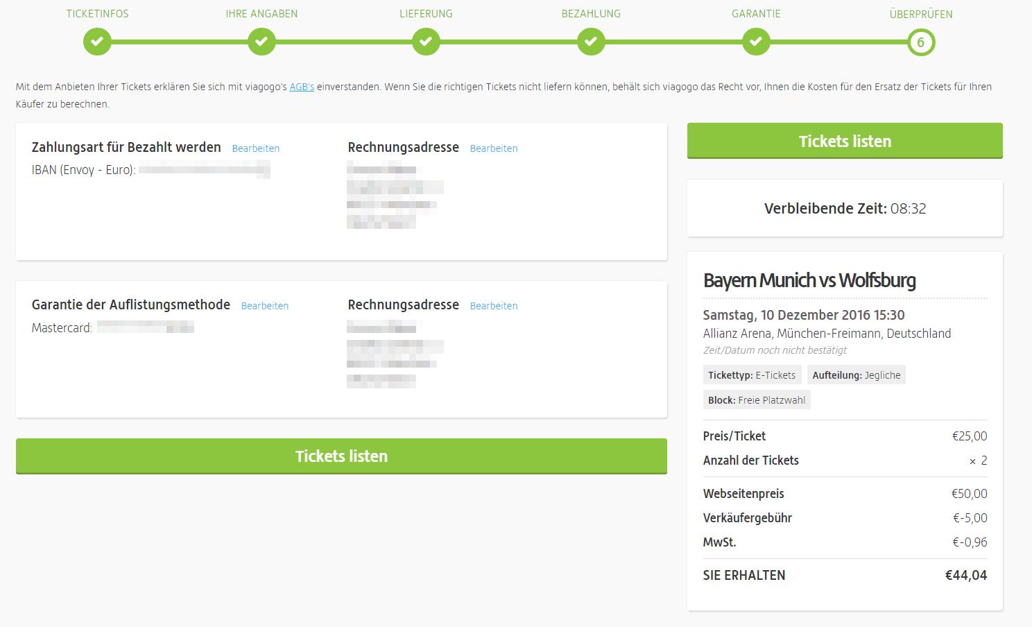Viagogo Tickets Verkaufen Erfahrungen